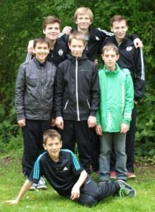 inten von links: René Erdbories, Torben Passgang, Dominik Weiss Mitte von links: Fabio Micke, Nils Brinkmann, Lukas Krause vorne: Luca Micke
