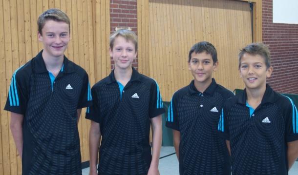 A-Schüler 2014/15 v.l.: Lukas Funke, Nils Brinkmann, Fabio Micke und Luca Micke