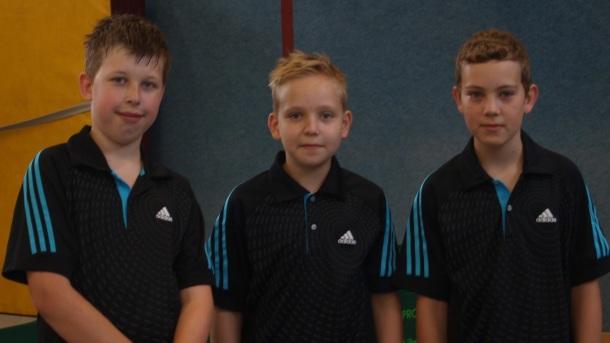 1. B-Schüler v.l.:  Aaron Saatz, Niklas Gurtsching und Lukas Krause
