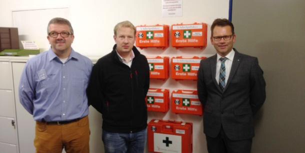 Geschäftsführer Erwin Nowotzin, Martin Wülfing und der 1. Vorsitzende Ralf Gailus