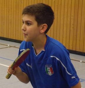 Fabio Micke, der mit den A-Schülern um die Hinrundenmeisterschaft spielt.