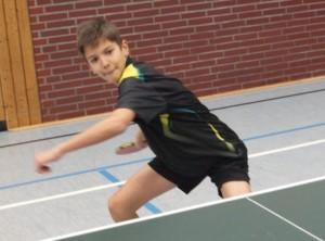 Luca Micke (11), der der Jugendmannschaft in der spannenden Partie in Hiltrup im allerletzten Spiel den Sieg bescherte.