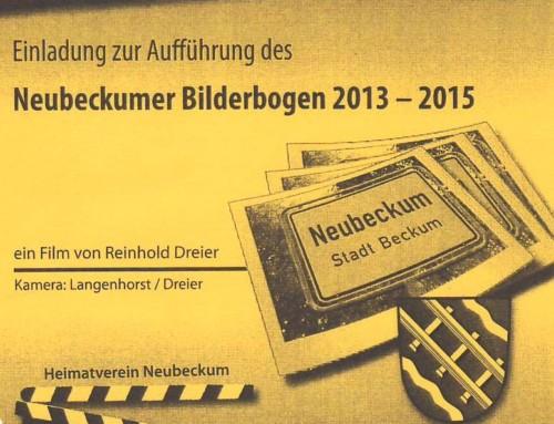 """Einladung zur Premiere des """"Neubeckumer Bilderbogen 2013 – 2015"""""""