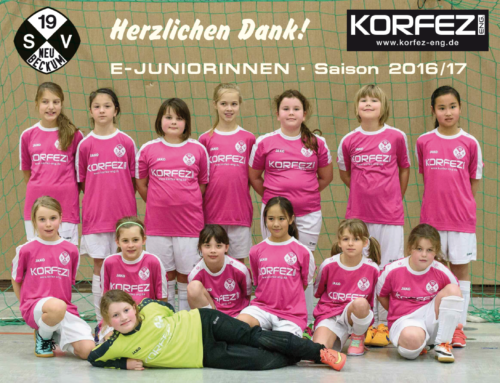 Firma KORFEZ ENG. stiftet Trikotsatz für die E-Juniorinnen