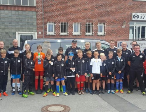 Das DFB-Mobil war wieder am Harberg zu Gast